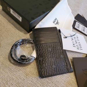 Brand new MCM lanyard purse black